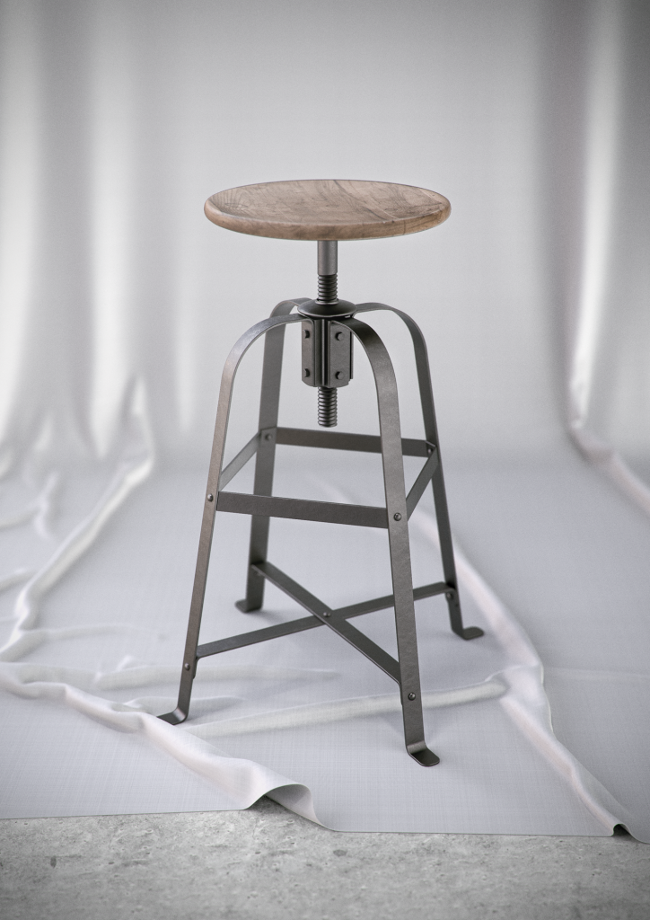 French Vintage Stool_small