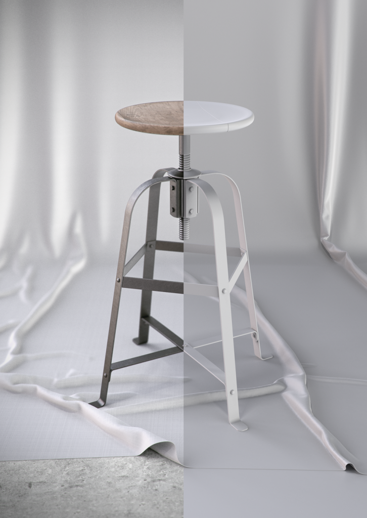French Vintage Stool_split